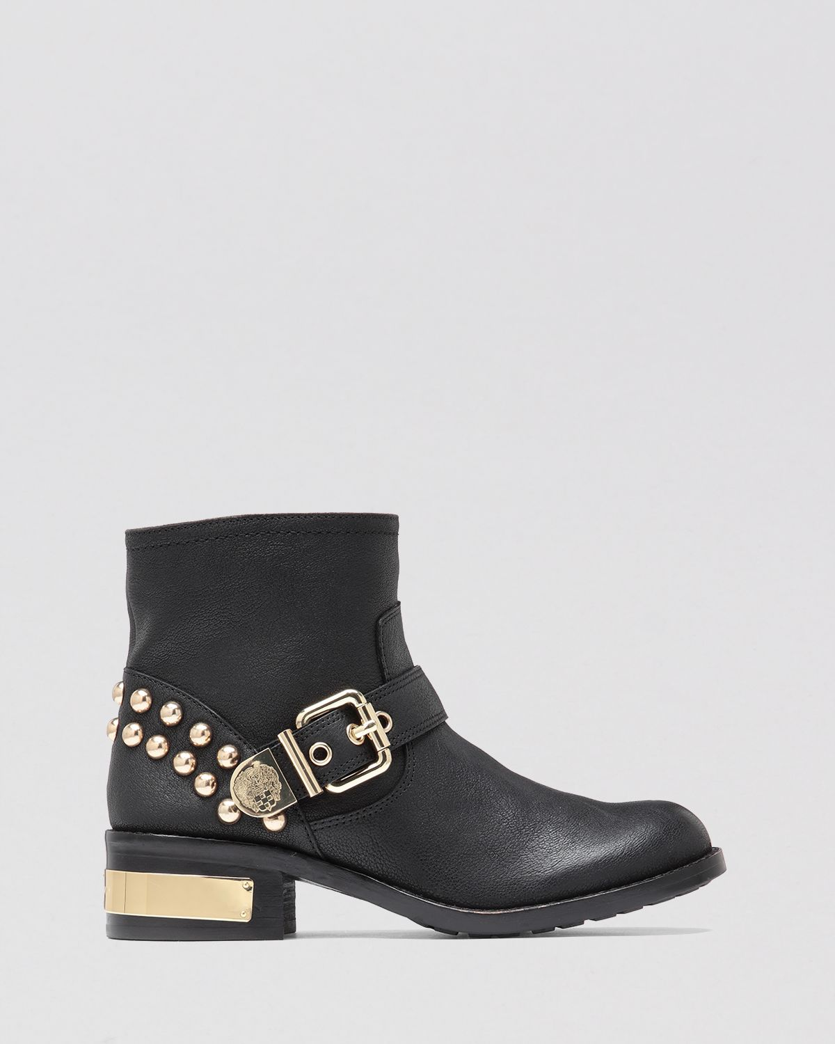 Vince Camuto Moto Boots Windetta Studded in Black
