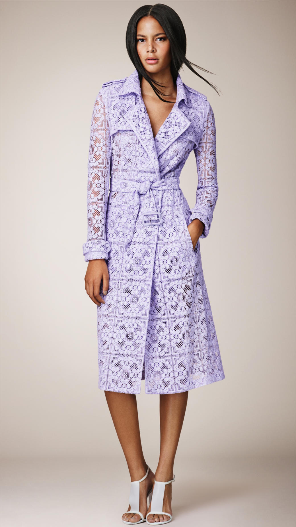 Lyst Burberry English Lace Trench Coat In Purple For Men