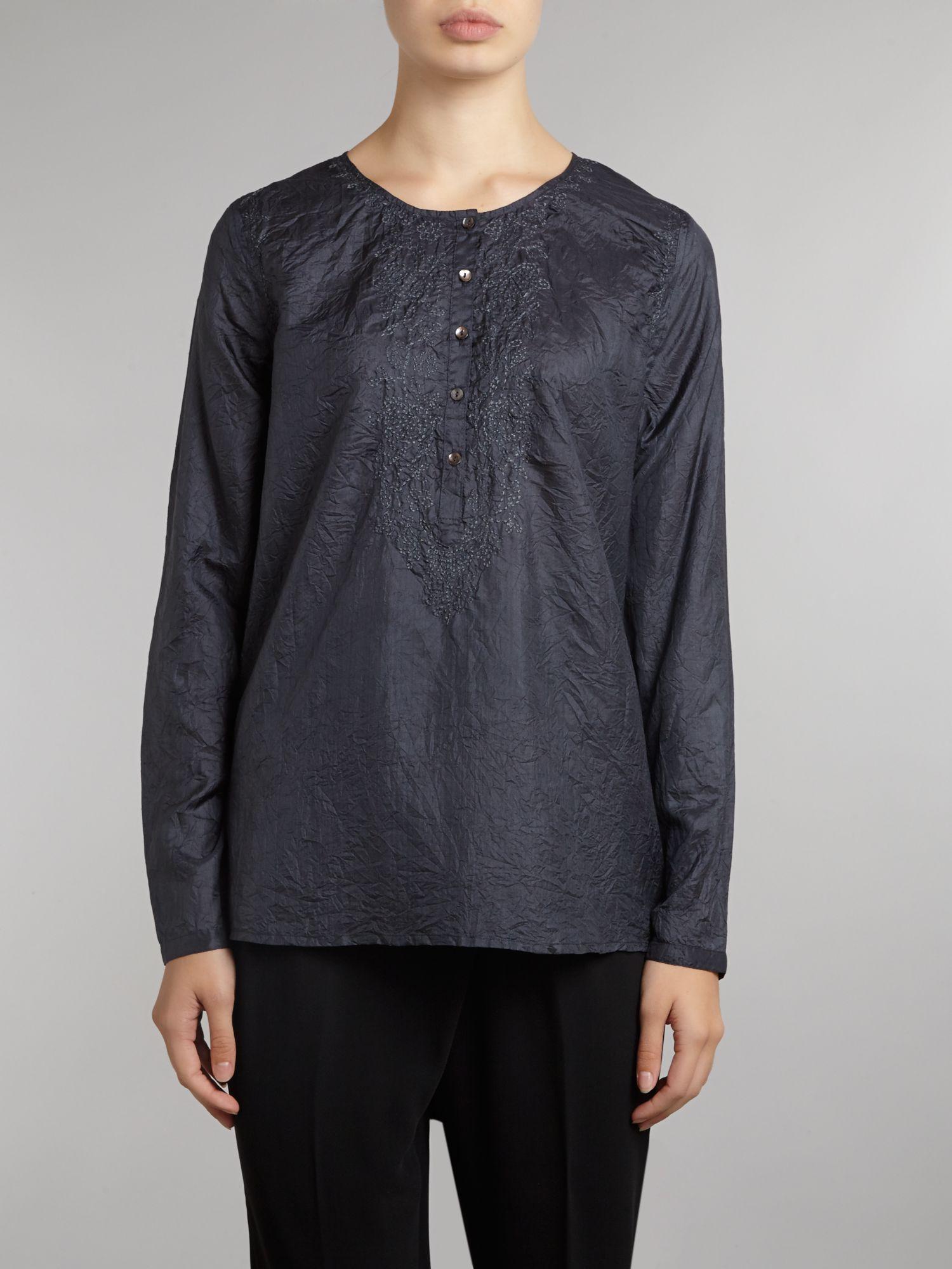 lyst day birger et mikkelsen day value blouse in blue. Black Bedroom Furniture Sets. Home Design Ideas