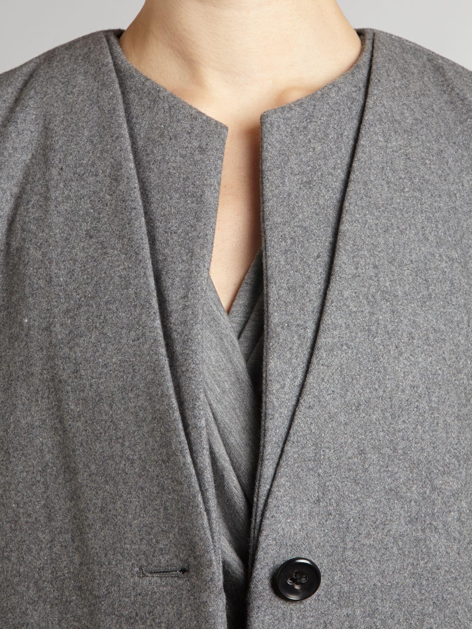 lyst day birger et mikkelsen day factual coat in gray. Black Bedroom Furniture Sets. Home Design Ideas