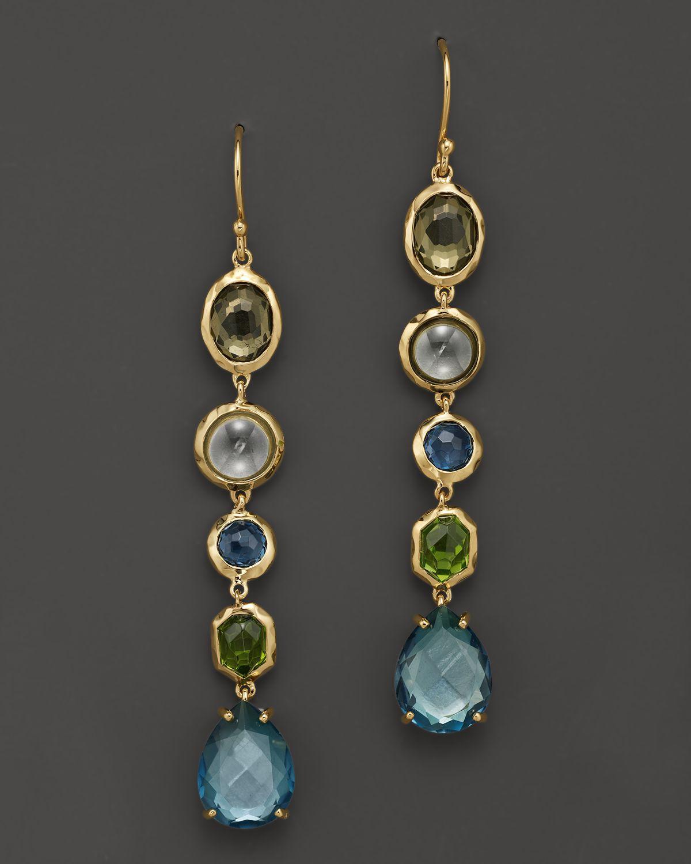 Ippolita 18k Gold Rock Candy Gelato 5 Tier Drop Earrings