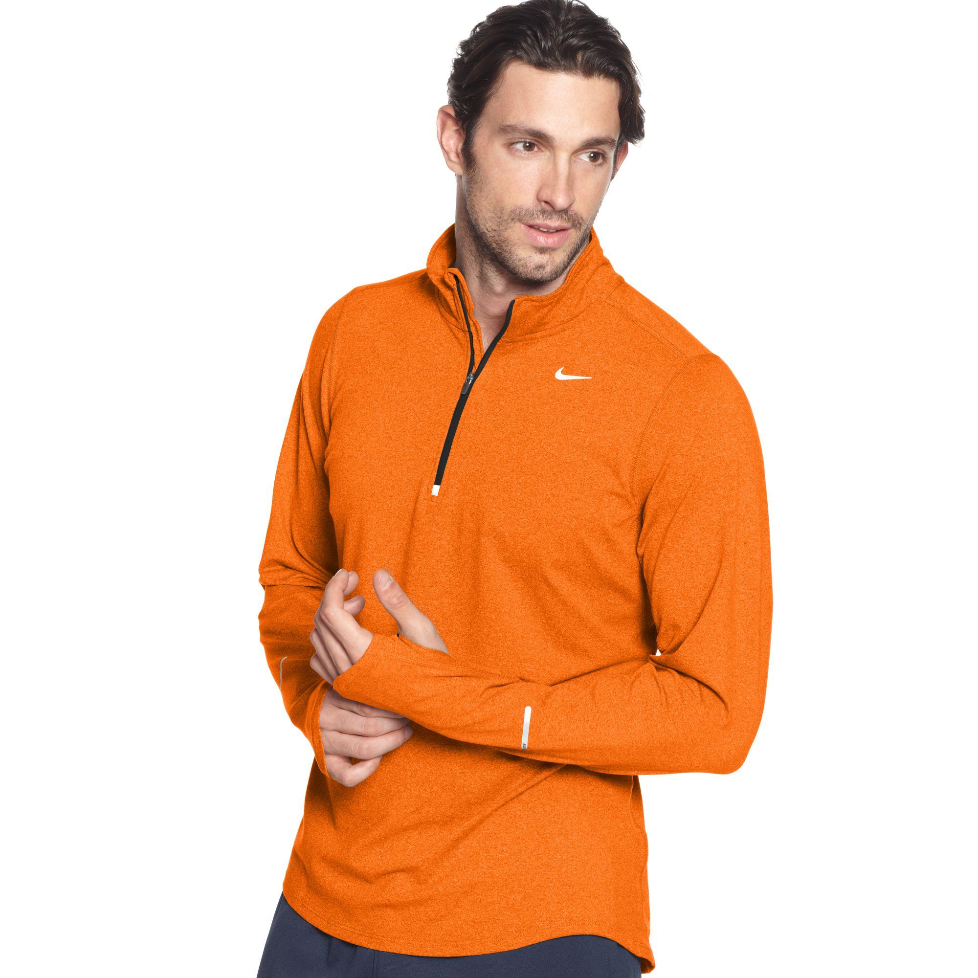 e8b45ce1d Nike Pullover Element Half Zip Shirt in Orange for Men - Lyst