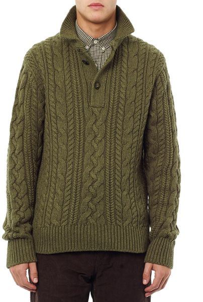Polo Ralph Lauren Mens Cable Knit Sweater 58