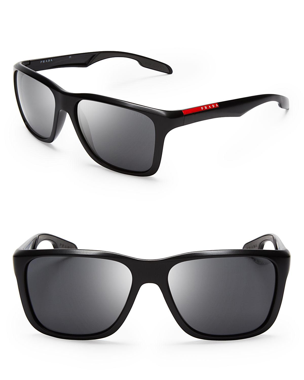 101f5eb6919 ... new arrivals lyst prada lifestyle sport wayfarer sunglasses in black  for men 6a675 55db9