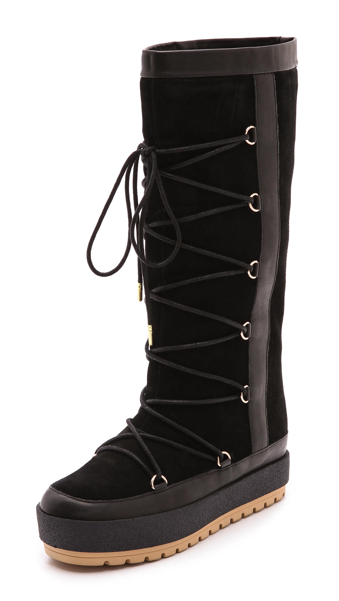 United Nude Polar Lace Up Boots In Black Lyst