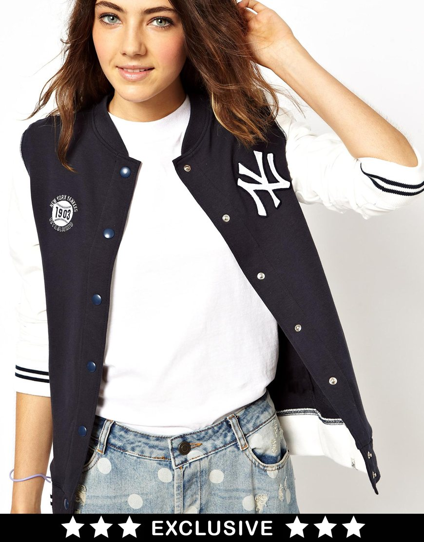 Lyst - Parka London 47 Brand New York Yankees Bomber Jacket ... fd0c470ef96