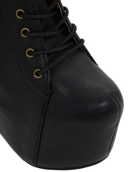 aldo mckever wedge boot in black black98 lyst