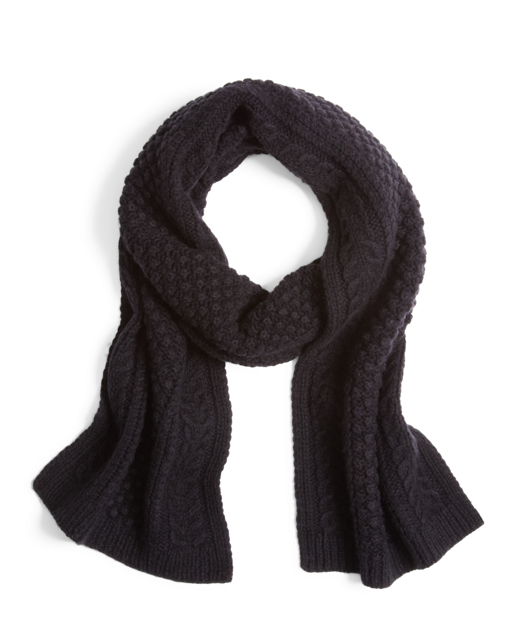 Lyst Brooks Brothers Cashmere And Wool Cable Knit Scarf