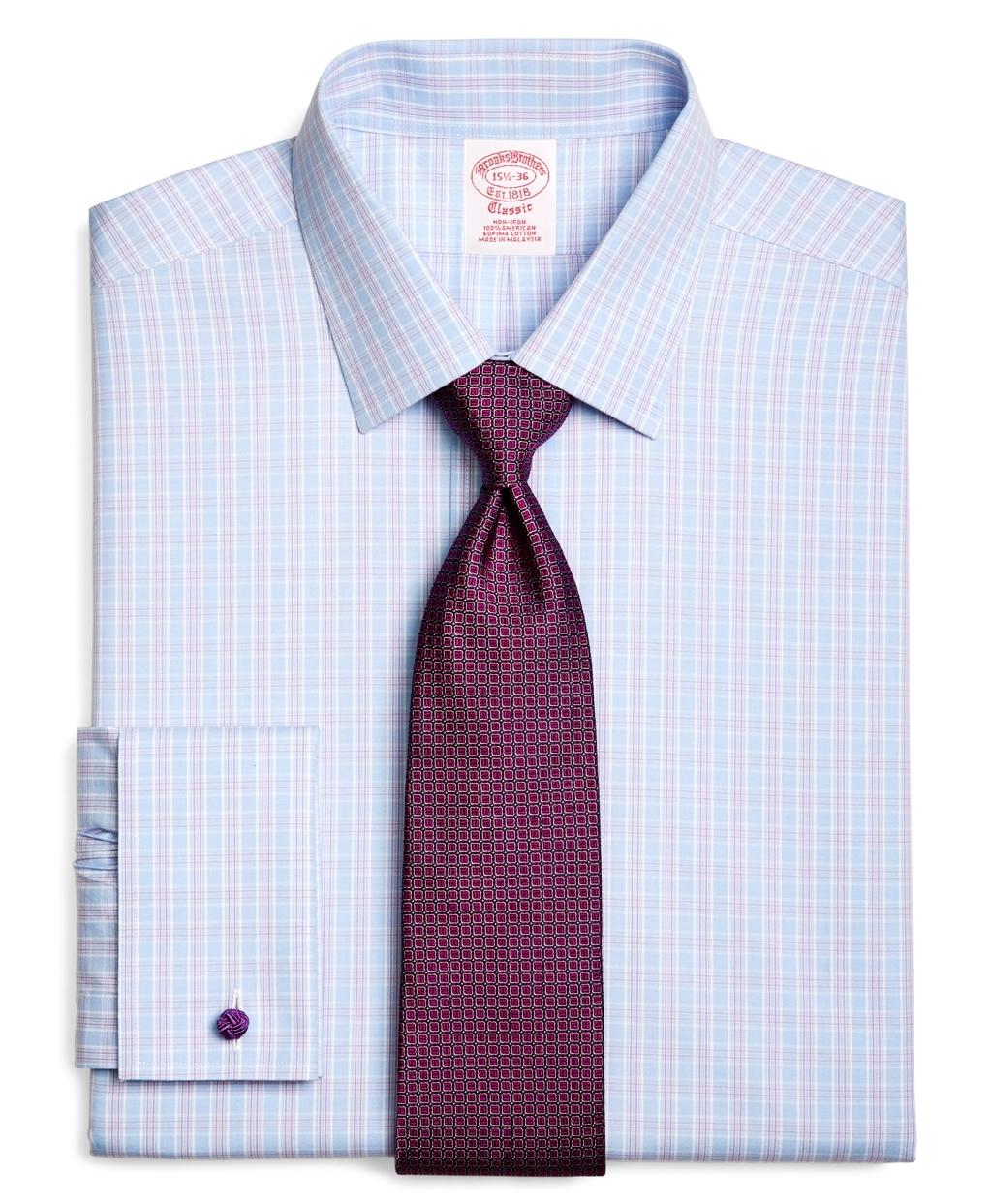 Brooks brothers supima cotton noniron regular fit spread for Supima cotton dress shirts