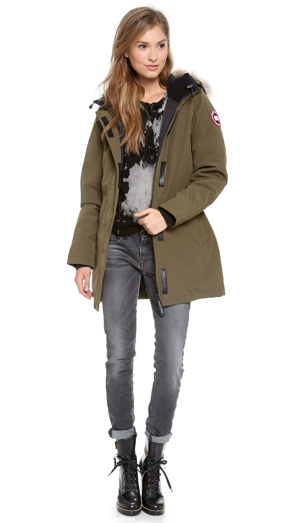Canada Goose Victoria Parka in Green (Military Green)