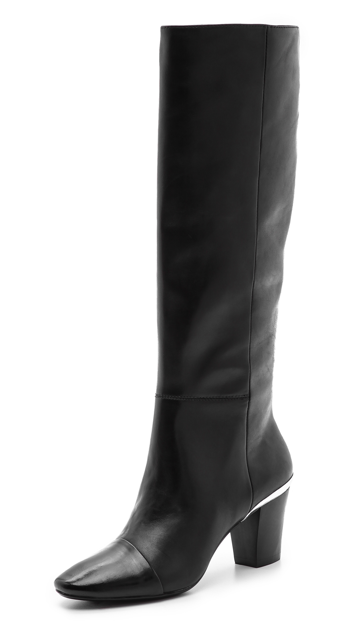 factory outlet ever popular outlet boutique DKNY Marion Mid Heel Tall Boots - Black - Lyst