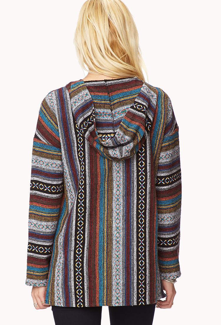 Lyst Forever 21 Free Spirit Serape Hoodie You Ve Been