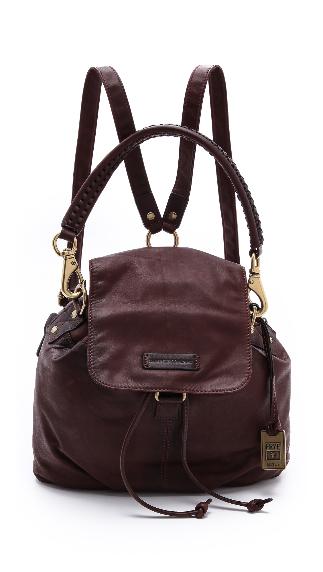 Lyst Frye Jenny Backpack In Brown