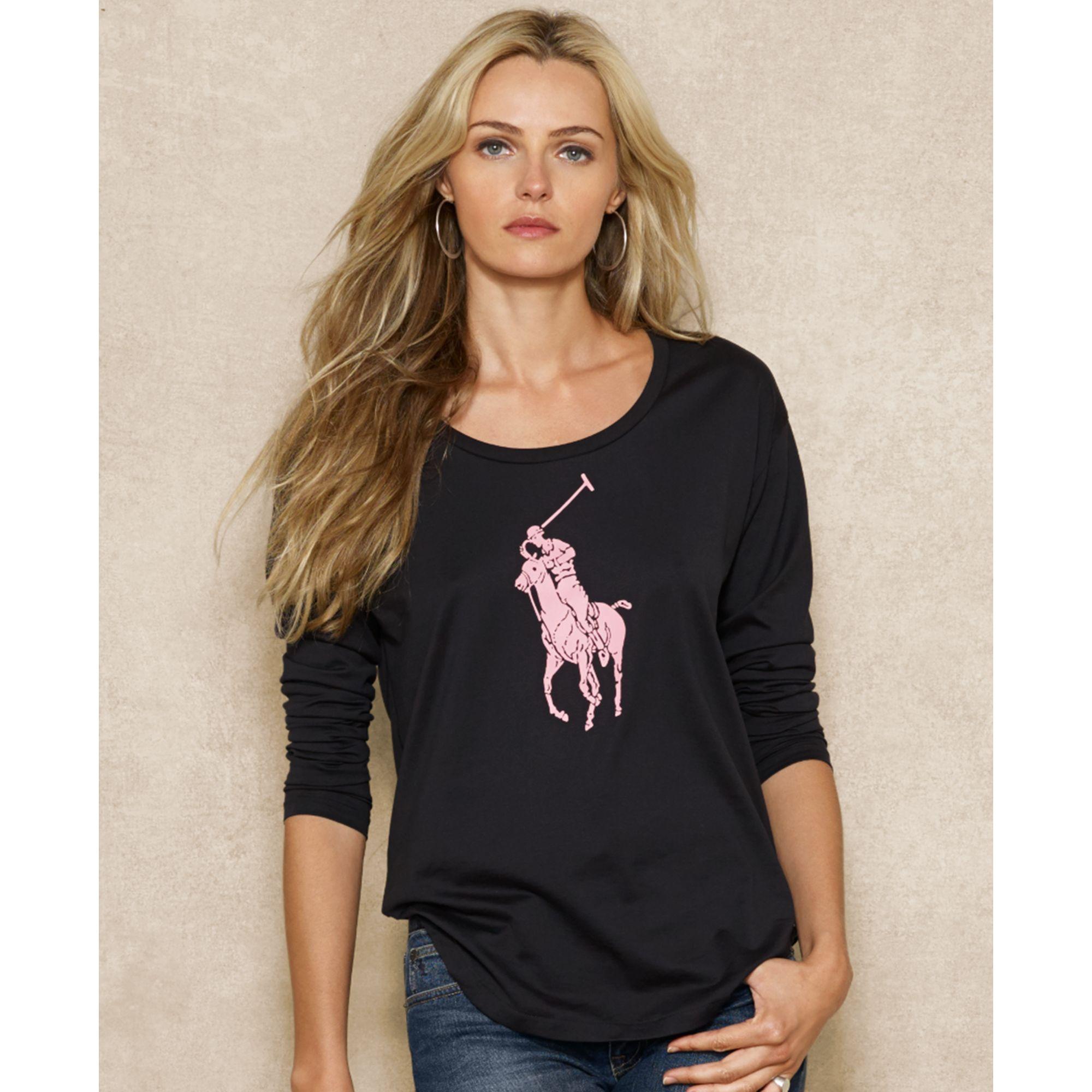 ralph lauren pink pony tee shirt