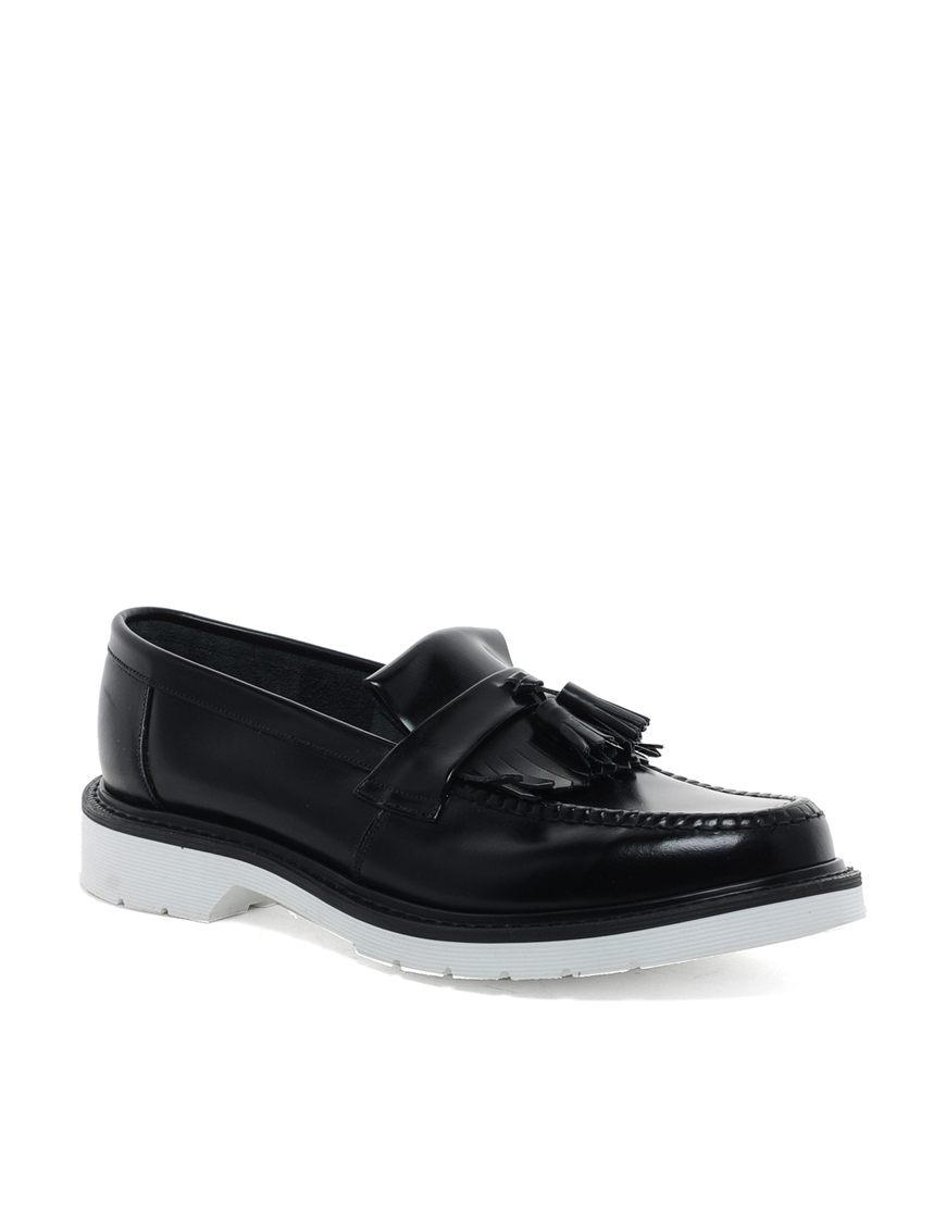 52365c9e779 Lyst - Loake Contrast Sole Loafers in Black for Men