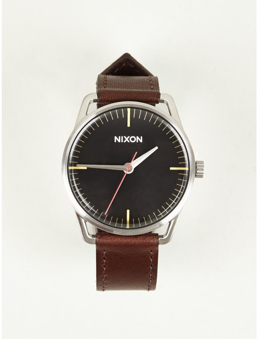 nixon mens mellor leather watch in black for men lyst