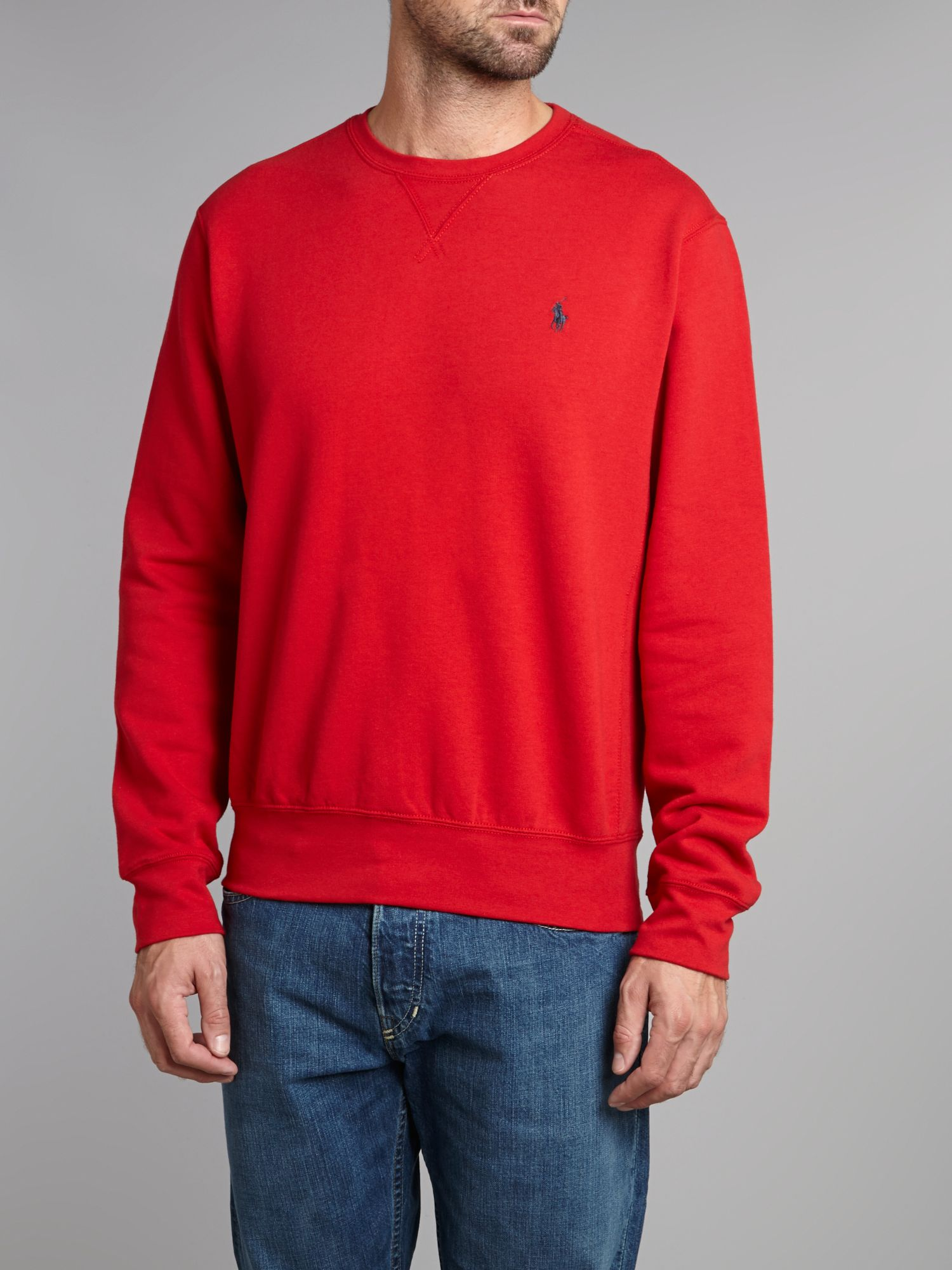 Polo Ralph Lauren Cotton Classic Crew Neck Sweater in Red ...