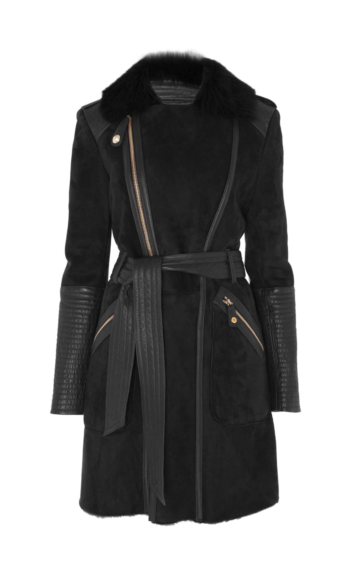Temperley london Classic Odele Sheepskin Coat in Black | Lyst