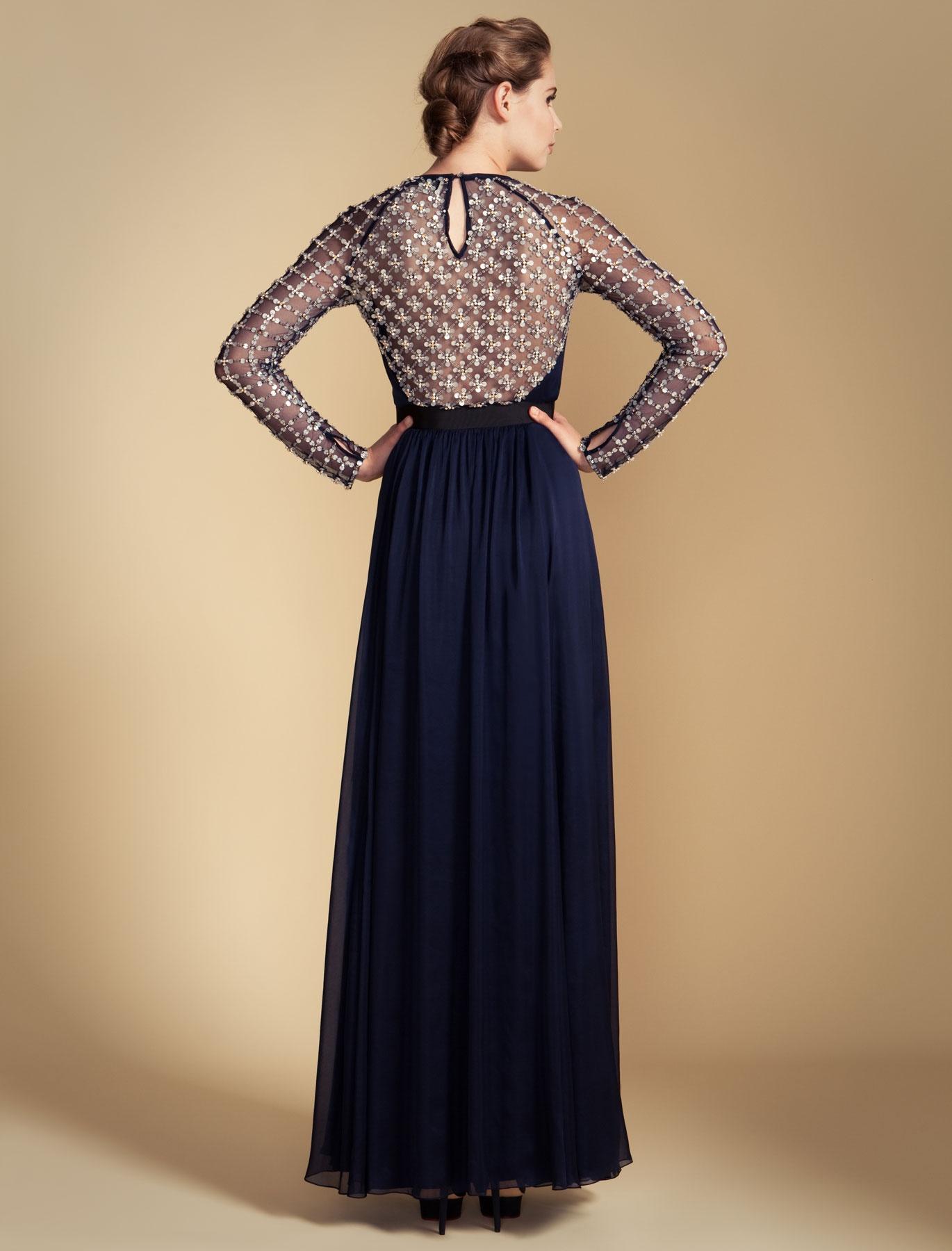 d68c6429fb00 Temperley London Long Angeli Lattice Dress in Blue - Lyst