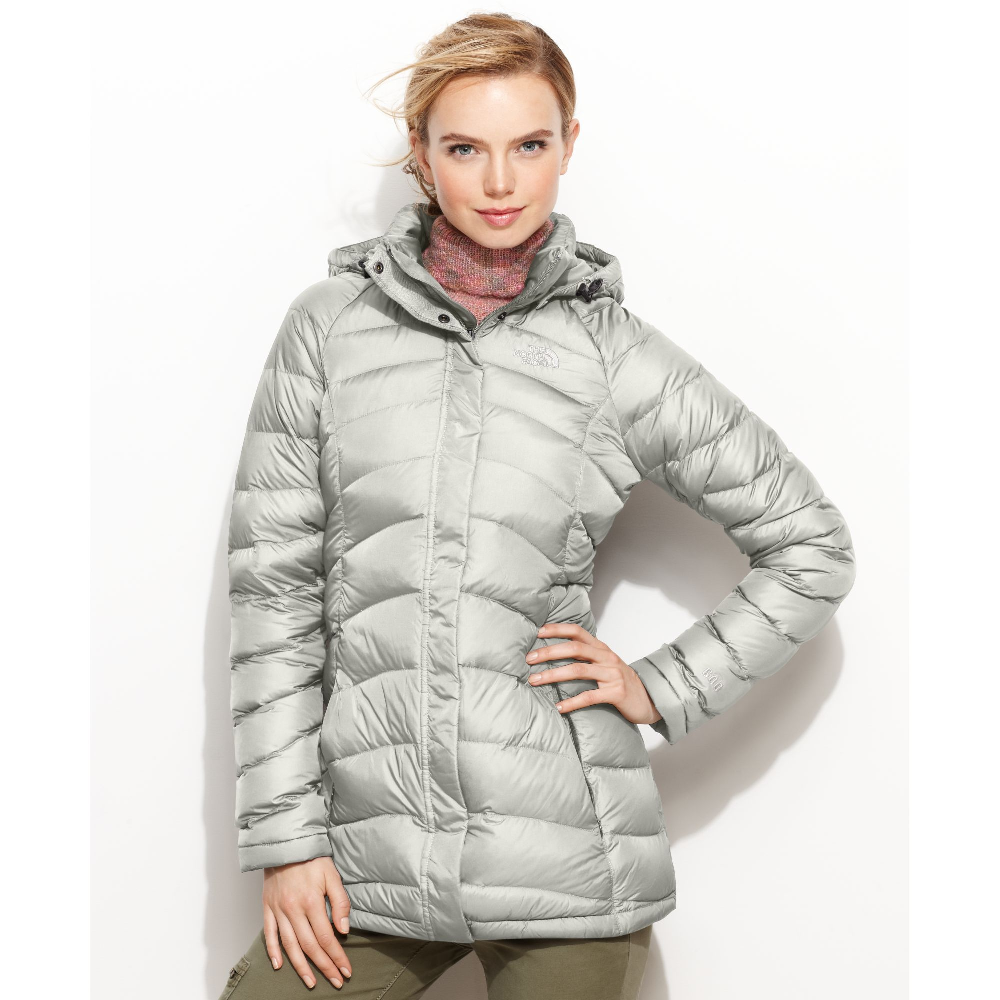 958b97a70ca The North Face Metallic Transit Hooded Down Puffer
