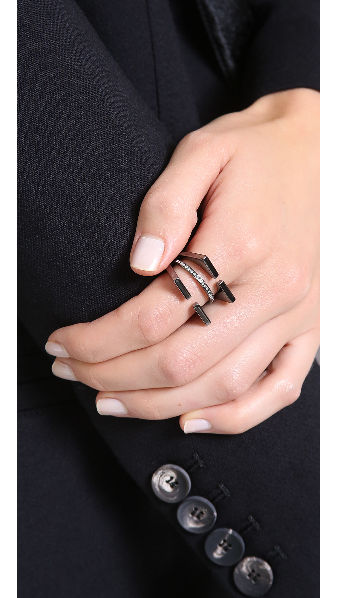 Vita Fede Emma Ring in Black - Lyst