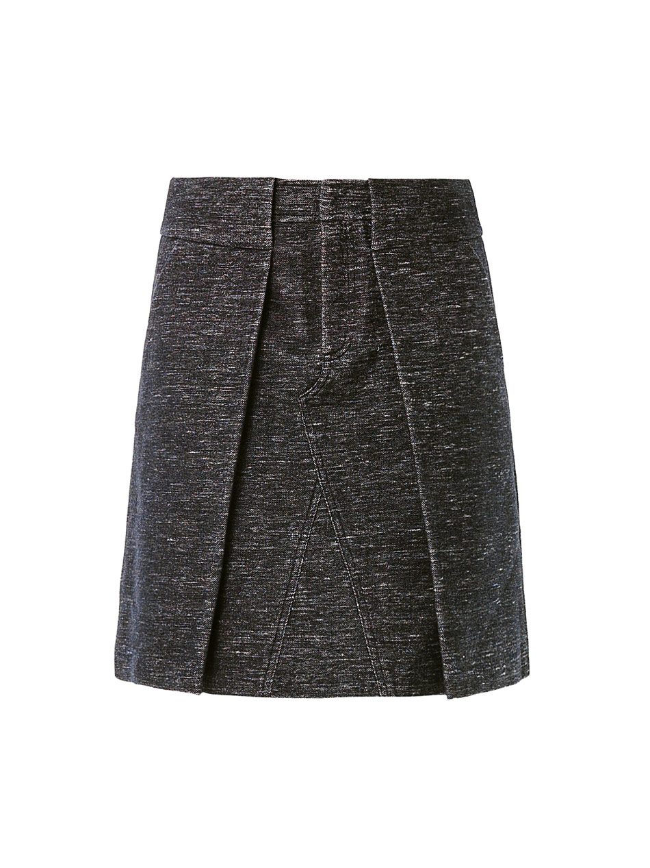 wang pleat front skirt in gray lyst