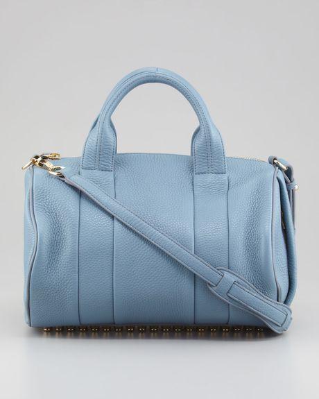 alexander wang rocco studbottom satchel bag mercury light. Black Bedroom Furniture Sets. Home Design Ideas