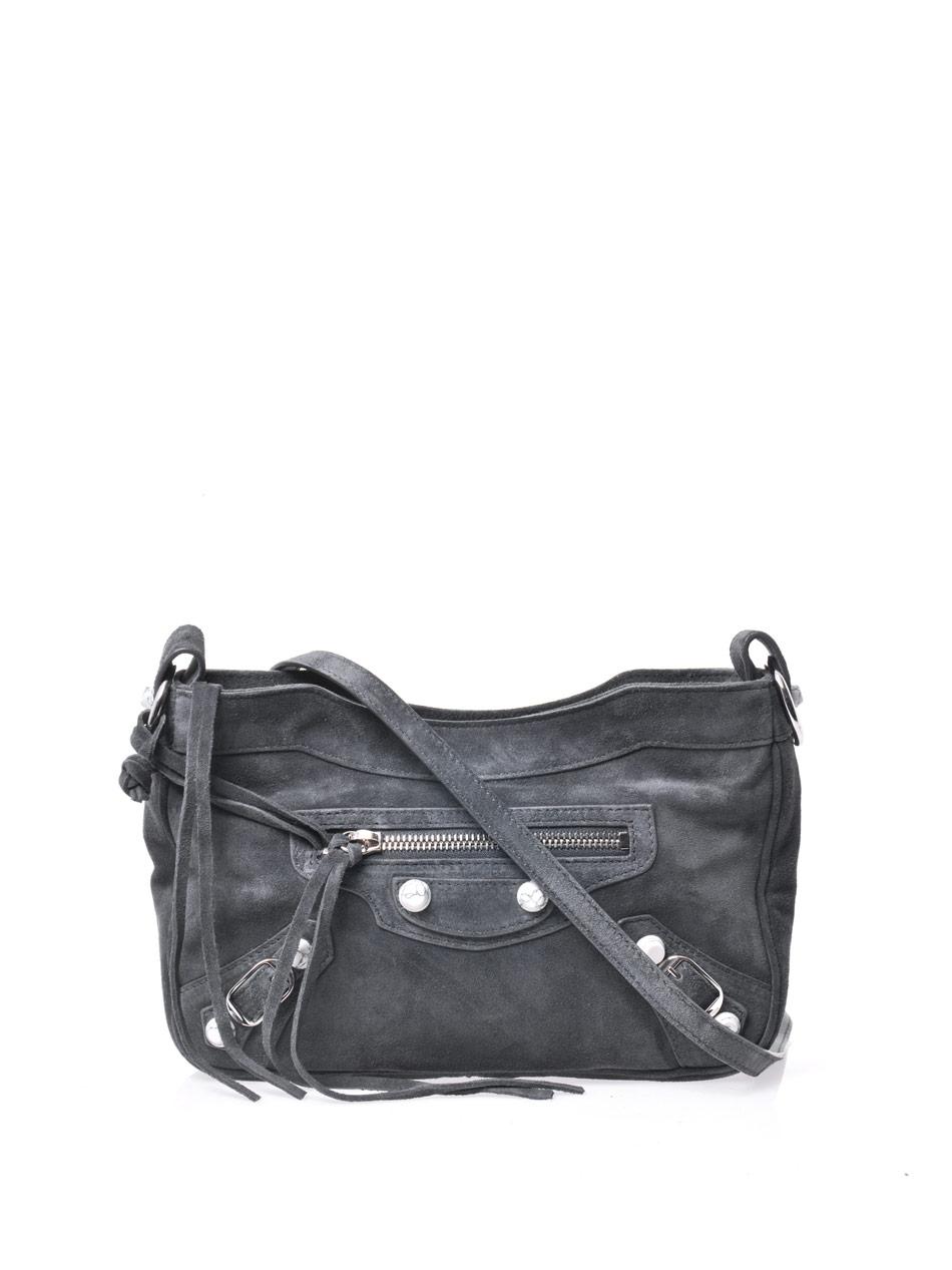 Classic Hip Suede Shoulder Bag 53