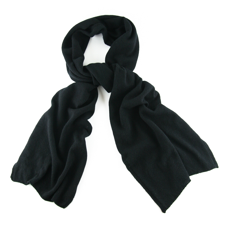 Black.co.uk Classic Black Fine Knit Cashmere Scarf Description ...