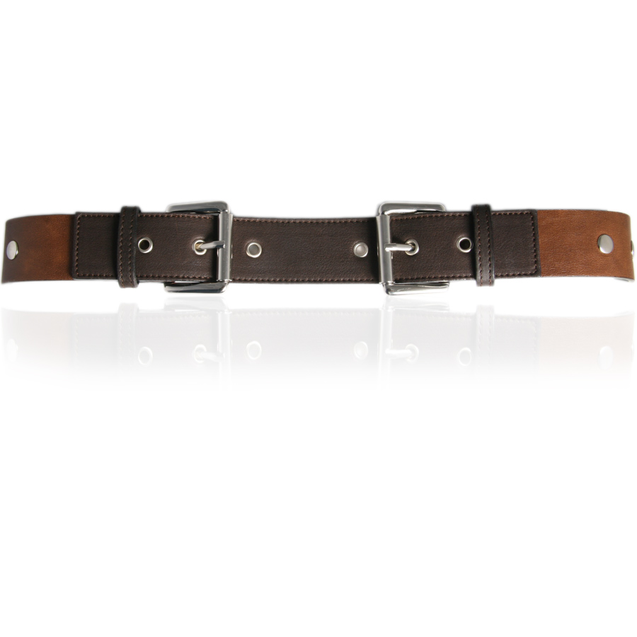 black co uk brown buckle leather belt with studs in