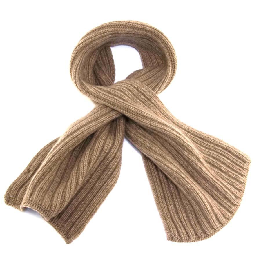 c81da7597 Black.co.uk Light Brown Cashmere Cravat Scarf 100% Cashmere in ...
