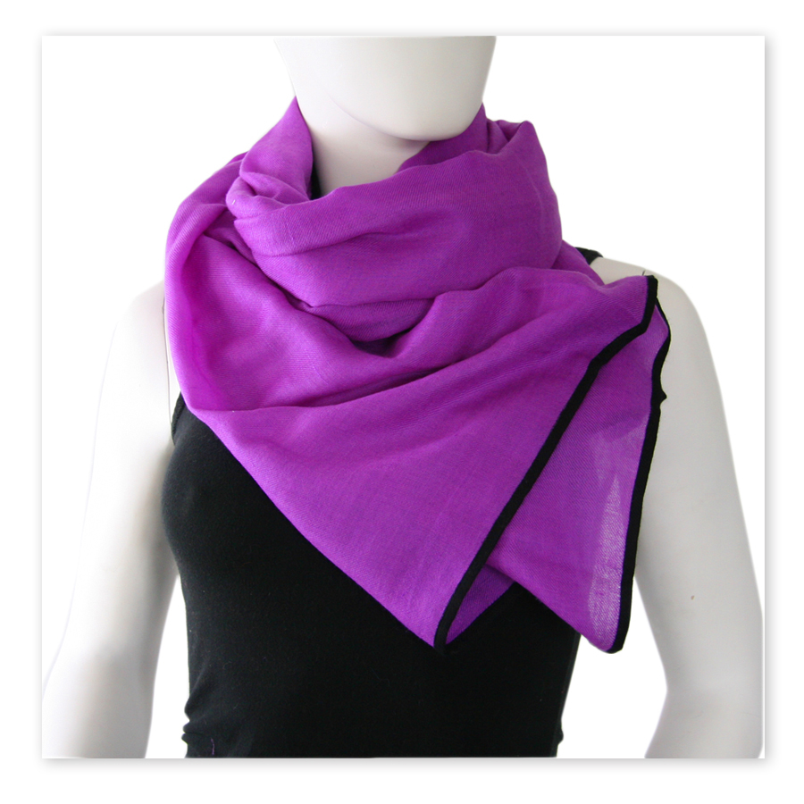 Black Co Uk Bleeker Purple And Black Scarf Cashmere And