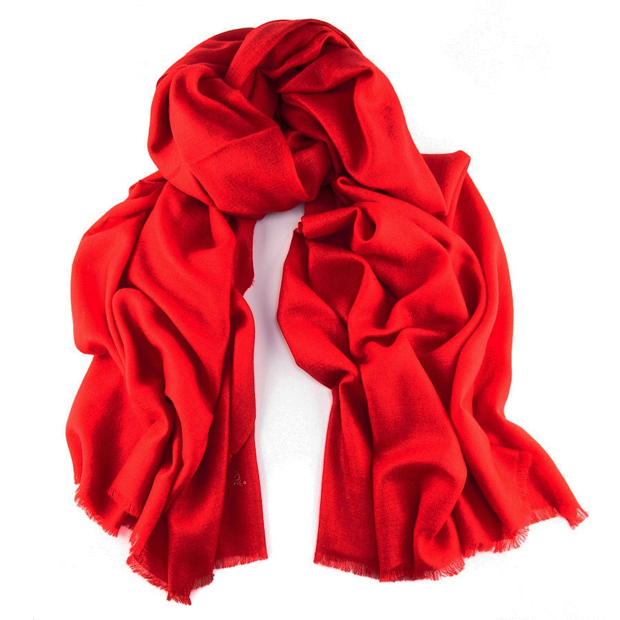 Black.Co.Uk Postbox Red Handwoven Shawl