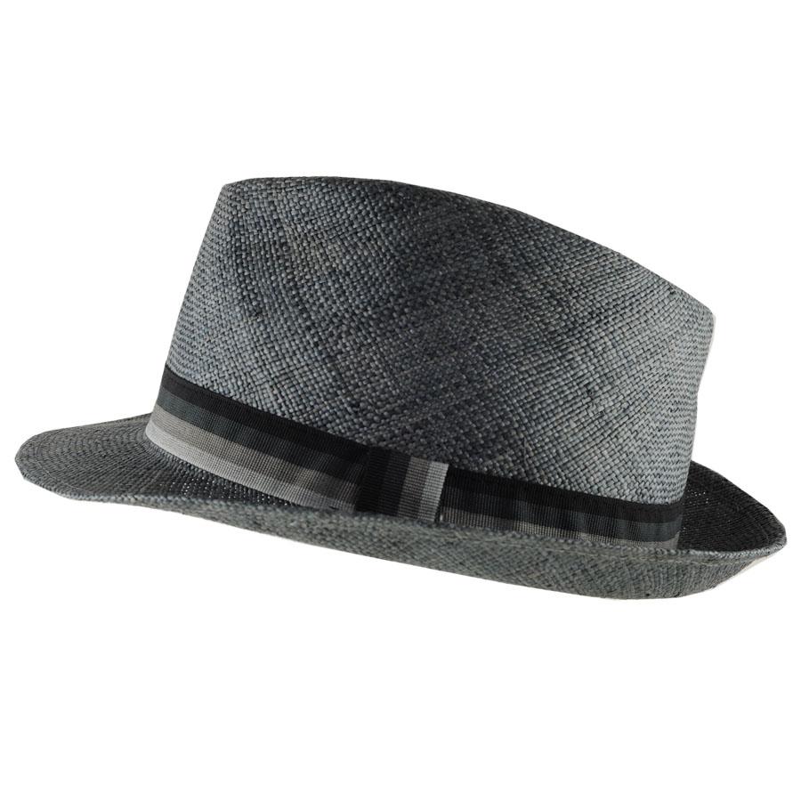 Lyst - Black.co.uk Slate Grey Straw Fedora with Grosgrain Band in ... fd2da69df94