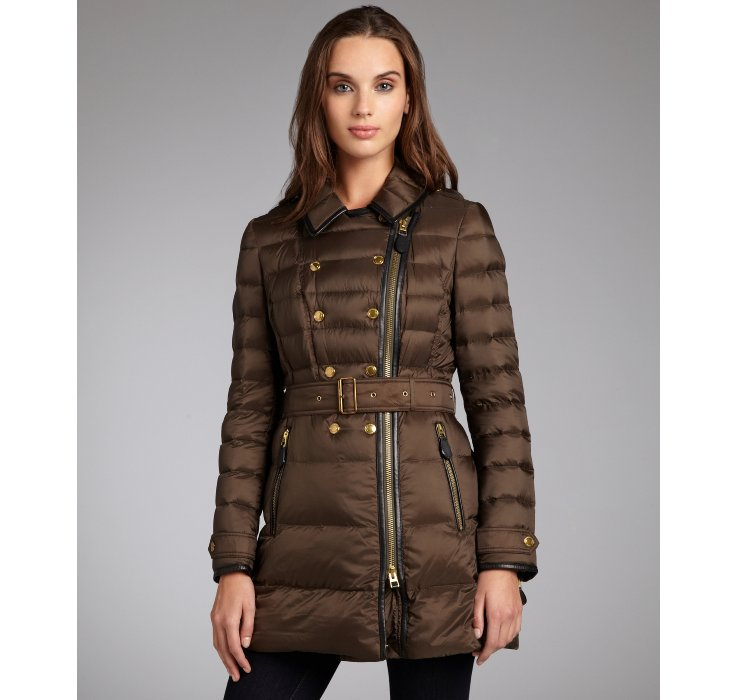 Burberry Caper Quilted Double Breasted Leather Trimmed
