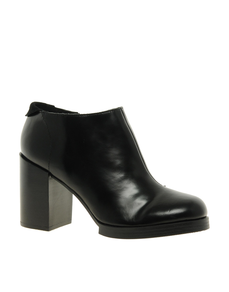 cheap monday layer heel boot in black lyst