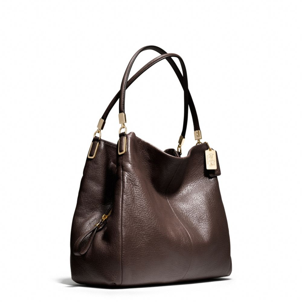 coach madison small phoebe shoulder bag in leather in
