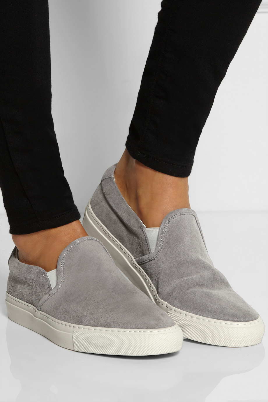 Lyst Common Projects Suede Sneakers In Gray