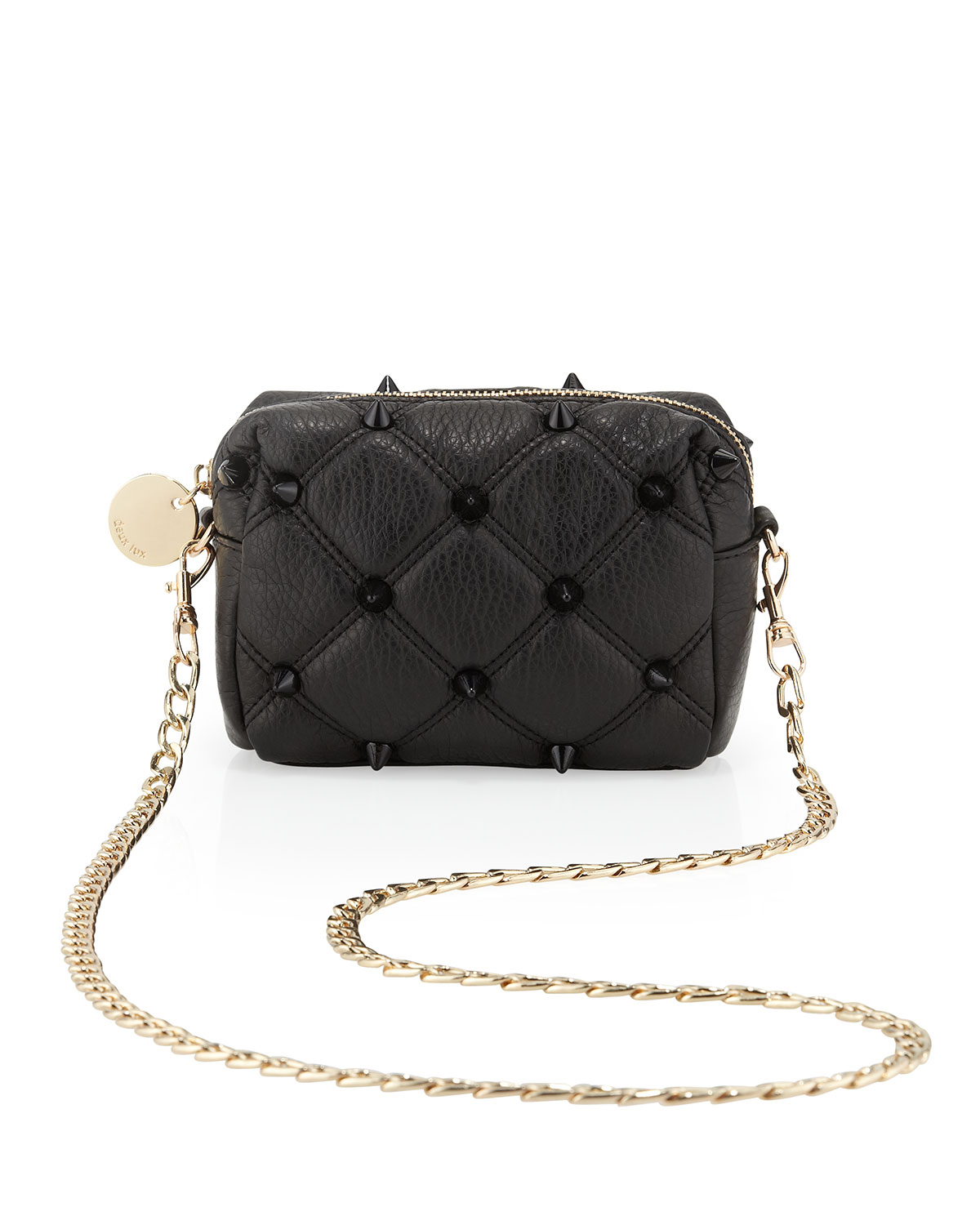 f005be1ba313 Deux Lux Empress Quilted Spike Mini Crossbody Bag Black in Black - Lyst