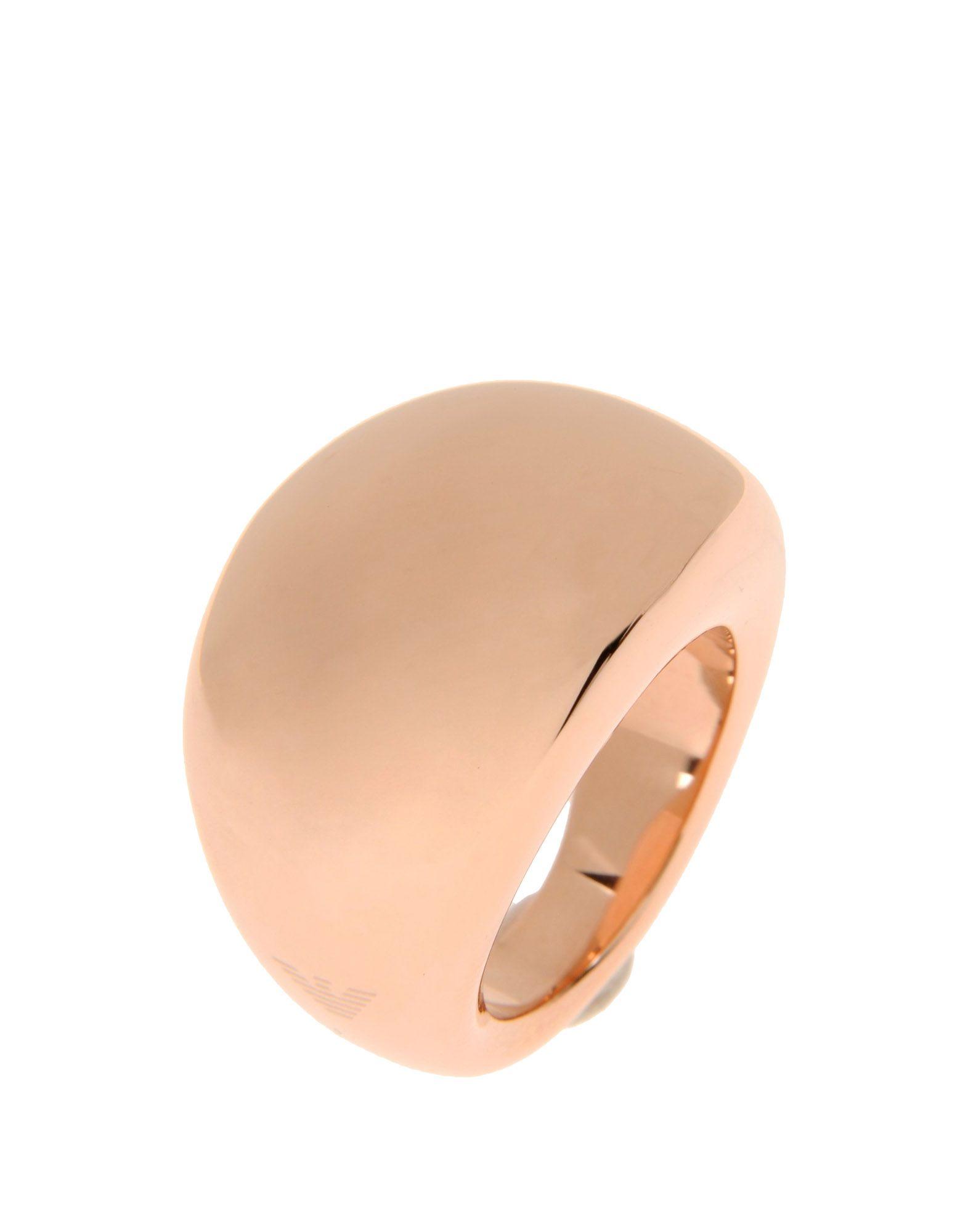 emporio armani ring in gold copper save 42 lyst