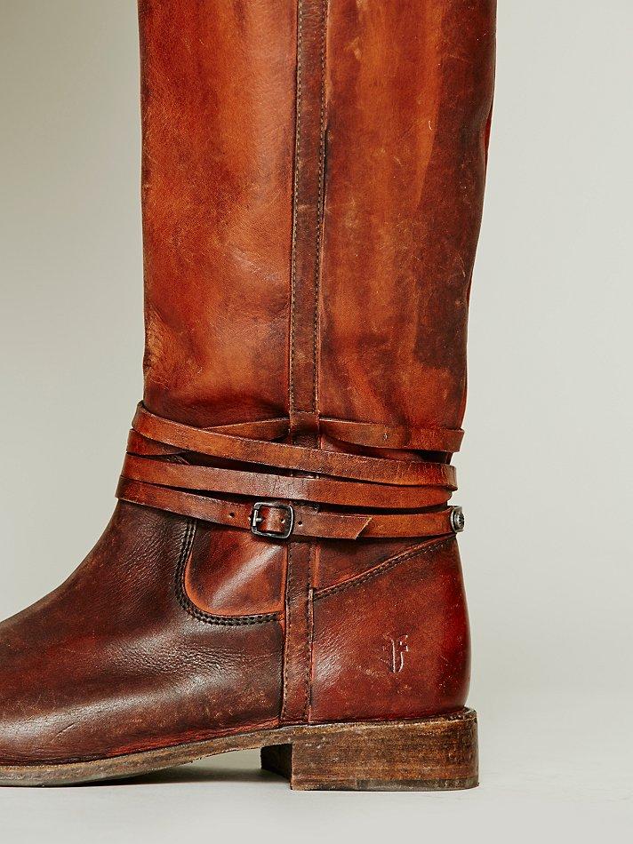 Frye 500 Miles Distressed Boot In Brown Lyst