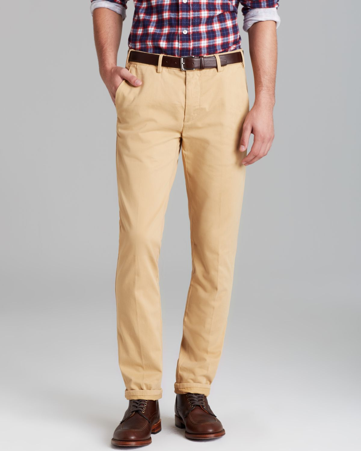Gant rugger Slim Fit Chino Pants in Brown for Men | Lyst