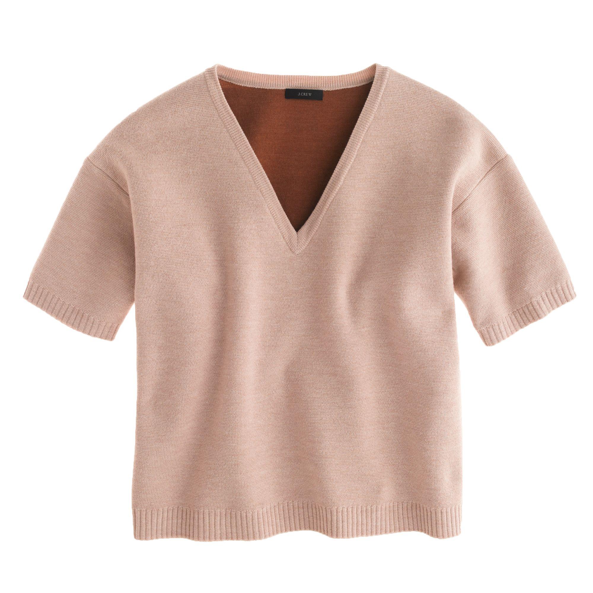 69babb5d29328 J.Crew Beige Collection Bonded Merino Sweater