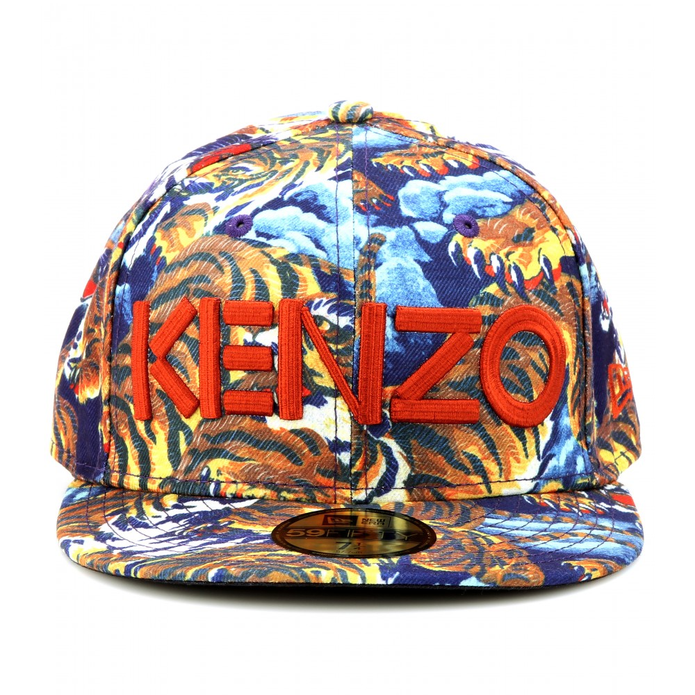 Lyst - KENZO Flying Tiger Printed Baseball Cap in Blue 8b5f0d868f6