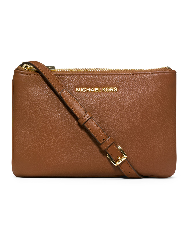 844563776ae5b0 ... usa lyst michael michael kors bedford gusset crossbody bag in brown  9c292 ec8c4