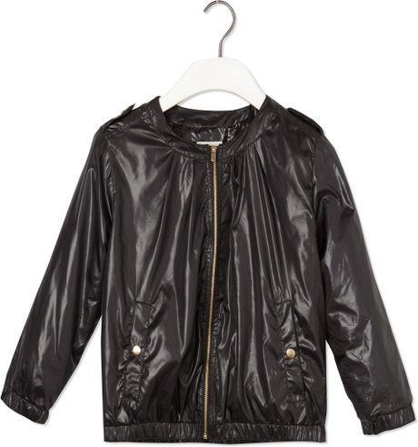 pull bear nylon jacket in black lyst. Black Bedroom Furniture Sets. Home Design Ideas