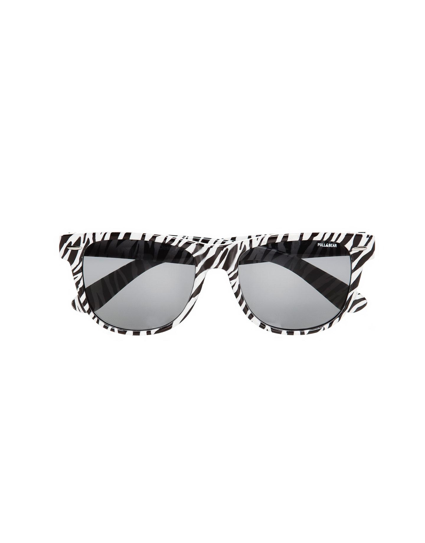 Zebra Eyeglass Frames : Pull&bear Zebra Print Plastic Frame Glasses in Black Lyst