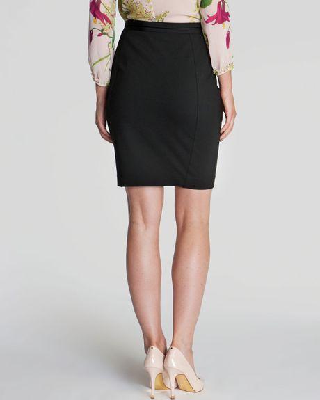 ted baker skirt bebu leather panel in black lyst