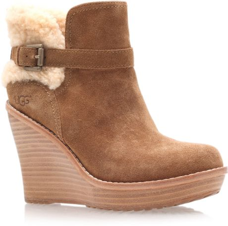 Ugg Anais Ankle Boots in Brown - Lyst