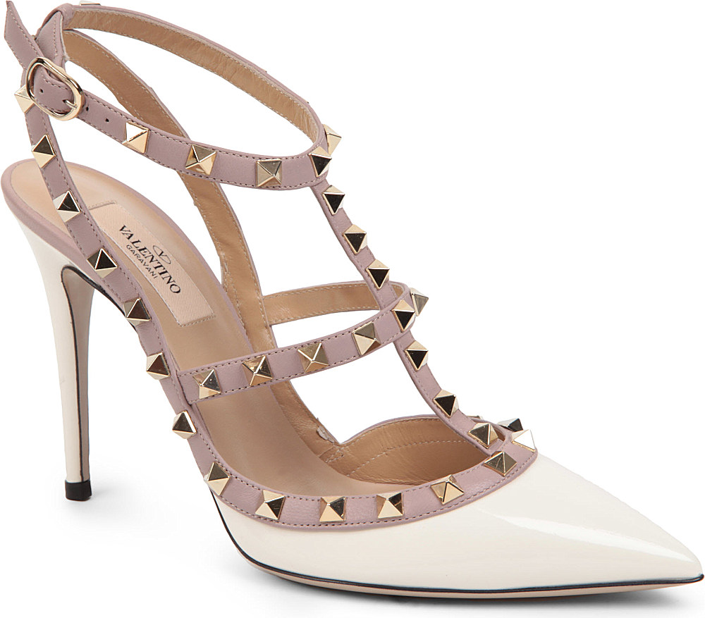 Valentino Studded Court Shoes In White Lyst